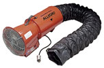 "8"" Allegro Explosion Proof Confined Space Axial Blower w/Ducting (1/3 Hp, 890 CFM @ Outlet)"
