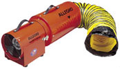 "8"" Allegro Electric Confined Space Axial Blower w/15' or 25' Duct (1/3 Hp, 778 CFM @ Outlet)"