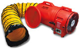 "12"" Allegro Electric Confined Space Axial Blower w/15' or 25' Duct (1 Hp, 1842 CFM @ Outlet)"