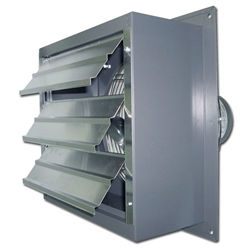"(Two Speed) Standard Duty Shutter Mount Direct Drive Wall Exhaust Fan CFM Range: 300-3,440 (Sizes 8"" thru 20"")"