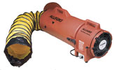 "Allegro 8"" Confined Space Plastic COM-PAX-IAL Blower w/15' or 25' Duct (1/3 Hp, AC or DC, 831 CFM @ Outlet)"