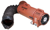 "Allegro 8"" Explosion Proof Confined Space Axial Blower w/Statically Conductive Ducting (1/3 Hp, AC, 900 CFM @ Outlet)"