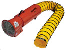 "Allegro 8"" Confined Space Steel Axial Blower w/15' or 25' Duct (1/3 Hp, AC or DC, 50Hz or 60Hz, 1275 CFM @ Outlet)"