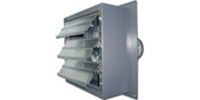 "Explosion Proof (Single Speed) Standard Direct Drive Wall Exhaust Fan CFM Range:1670-5520 (Sizes 8"" thru 24"")"