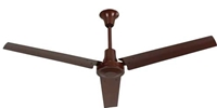 "VES Model #INDB604LB Brown Heavy Duty Industrial Variable Speed Ceiling Fan (60"" Reversible, 46,000 CFM, 5 Year Warranty, 120V)"