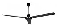 "Canarm Model #CP56BK Black Industrial 4-Speed Ceiling Fan (56"" Downflow, 6,190 CFM, 5 Yr Warranty, 120V)"