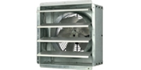 "(Single Speed) Shutter Mount Direct Drive Wall Exhaust Fan CFM Range: 1,580-6,800 (Sizes 12"" thru 24"")"