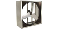 "Triangle Engineering of Arkansas brand VID Series (Single Speed) Direct Drive Industrial Wall Exhaust Fan CFM Range: 5,910-19,900 (Sizes 24"" thru 48"")"
