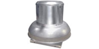 ALX-DB Series - Downblast Belt Drive Spun Aluminum Centrifugal Downblast Roof Exhaust Fan Gen. Application CFM Range: 1,303-7,188