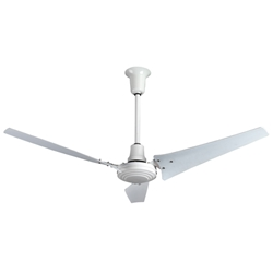"AirRow Model #L-660 Industrial Ceiling Fan (60"" White Downflow, 46,000 CFM, 10 Yr Warranty, 120V)"