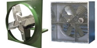 "Canarm Ltd. brand Model DDS: Direct Drive Industrial Wall Exhaust Fan CFM Range: 940 - 32,563 (Sizes 12"" thru 48"")"