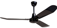 "Northwest Envirofan Model #160F-7BLK Black Industrial Variable Speed Ceiling Fan (56"" Downflow, 34,500 CFM, 5 Yr Warranty, 120V)"