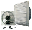 "J&D Manufacturing brand Model VPES (3-Speed) Indoor/Outdoor Shutter Mount Direct Drive Wall Exhaust Fan CFM Range: 550-5,850 (Sizes 12"" thru 24"")"