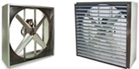 "Triangle Engineering or Arkansas Model VI & VIK (Single Speed) Belt Drive Heavy Duty Industrial Wall Exhaust Fan CFM Range: 4,190-43,500 (Sizes 24"" thru 60"")"