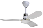 "Northwest Envirofan Model #136F-7 277V White Industrial Variable Speed Ceiling Fan (36"" Downflow, 12,000 CFM, 5 Yr Warranty, 277V)"
