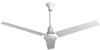"VES Model #INDB60MR4LP White Heavy Duty Industrial and Agricultural Variable Speed Ceiling Fan (60"" Reversible, 46,000 CFM, 5 Year Warranty, 120V)"