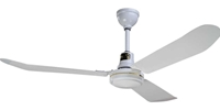 "Northwest Envirofan Model #160F-7 277V White Industrial Variable Speed Ceiling Fan (56"" Downflow, 34,500 CFM, 5 Yr Warranty, 277V)"