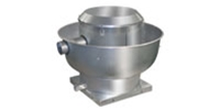 "Canarm Ltd. brand Model ALX-UD Direct Drive Centrifugal Up Blast Roof or Sidewall Mount Exhaust Fan Restaurant & Gen. Applic. CFM Range: 400-3,725 @ 1/2"" S.P."