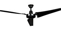 "AirRow Model #L-660 Black Industrial Variable Speed Ceiling Fan (60"" Downflow, 46,000 CFM, 10 Yr Warranty, 120V)"