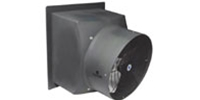 "Schaefer Ventilation Model PFM Explosion Proof (Single Speed) Direct Drive Polyethylene Industrial Wall Exhaust Fan CFM Range: 2,960-6,230 (Sizes 16"" thru 24"")"