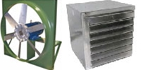 "Canarm Ltd. brand Model ADD: Direct Drive Industrial Reversible Wall Exhaust/Supply Fan CFM Range: 990 - 29,700 (Sizes 12"" thru 36"")"