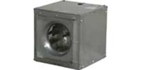 Soler & Palau USA brand Model SQD Square Inline Direct Drive Centrifugal Duct Fan General Application CFM Range: 162 - 2,658