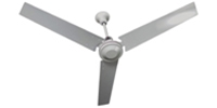 "TPI Corporation Model #IHR-48 White Industrial Variable Speed Ceiling Fan (48"" Downflow, 17,000 CFM, 3 Yr Warranty, 120V)"