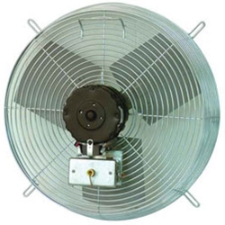 "TPI Corporation brand Model CE (Two or Three Speed) Guard Mount Direct Drive Wall Exhaust Fan CFM Range: 1325 - 7900 (Sizes 10"" thru 30"")"
