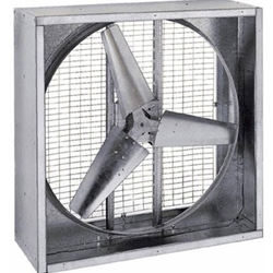 "Triangle Engineering of Arkansas Model PFG (Single Speed)Direct Drive Heavy Duty Agricultural Wall Exhaust Fan CFM Range:10,740-18,800 (Sizes 36"" thru 48"")"