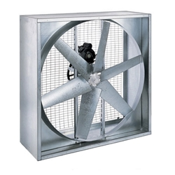 "Triangle Engineering of Arkansas Model PFG (Single Speed) Belt Drive Heavy Duty Agricultural Wall Exhaust Fan CFM Range:10,380-23,800 (Sizes 36"" thru 48"")"