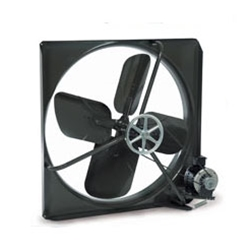 "Triangle Engineering of Arkansas brand Model V (Single Speed) Belt Drive Commercial Wall Exhaust Fan CFM Range: 3,920 - 18,100 (Sizes 24"" thru 48"")"