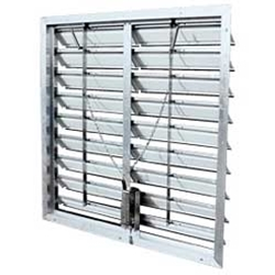 "J&D Manufacturing Motorized Aluminum Intake Commercial and Agricultural Grade Power Shutter (12"" to 60"")"