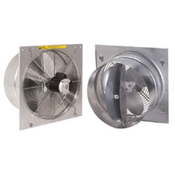 "J&D Manufacturing brand Model VFT (Single or Variable Speed) Direct Drive Twister Industrial Wall Exhaust Fan CFM Range: 370-6,125 (Sizes 12"" thru 24"")"
