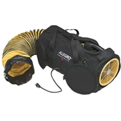"Allegro Model #9535-08 Air Bag 8"" Electric 2-Speed Confined Space Axial Blower System w/15' Duct (1/4 Hp, AC, 760 CFM High Speed @ Outlet)"