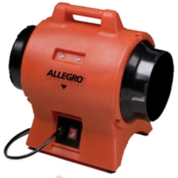 "Allegro 8"" Industrial Plastic Axial Blower (1/3 Hp, AC, 865 CFM @ Outlet)"