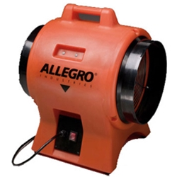 "12"" Allegro Industrial Plastic Blower (1/3 or 1/2 Hp, AC or DC or Explosion Proof, 1450 or 2180 CFM @ Outlet)"
