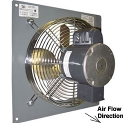 "Canarm Ltd. brand Model P (Variable Speed-Low Noise) Panel Mount Direct Drive Wall Supply Fan CFM Range: 1,450-4,040 (Sizes 12"" thru 24"")"