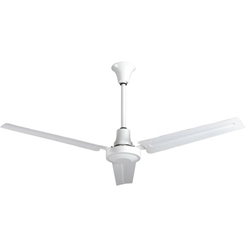 "VES Model #INDB562774L White Heavy Duty Industrial and Agricultural Variable Speed Ceiling Fan (56"" Reversible, 28,000 CFM, 5 Year Warranty, 277V)"