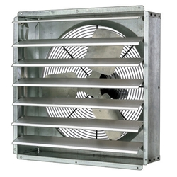 "Triangle Engineering brand Model GPX (Single Speed) Shutter Mount Direct Drive Industrial Wall Exhaust Fan CFM Range: 1,580-6,800 (Sizes 12"" thru 24"")"