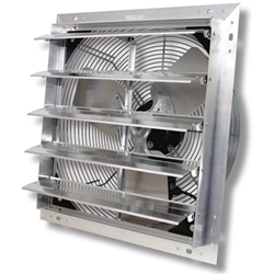 "VES Environmental Solutions brand (3-Speed) Shutter Mount Direct Drive Agricultural/Industrial Wall Exhaust Fan CFM Range: 880-4,874 (Sizes 12"" thru 24"")"