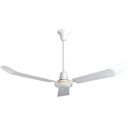"VES Environmental brand #INDA56P White Heavy Duty Commercial Variable Speed Ceiling Fan (56"" Downflow , 28,000 CFM, 5 Year Warranty, 120V, with Cord & Plug)"