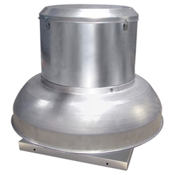 Canarm Ltd. brand Model ALX-DB Down Blast Belt Drive Spun Aluminum Centrifugal  Roof Exhaust Fan Gen. Application CFM Range: 1,303-7,188