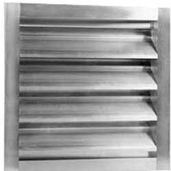 "Canarm Ltd. brand 4"" Wide (Fixed Blade) Fresh Air Drainable Wall Louver (12"" to 72"")"