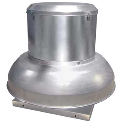 Canarm Ltd. brand Model ALX-DD Down Blast Direct Drive Spun Aluminum Centrifugal  Roof or Side Wall Mount Exhaust Fan Gen. Application CFM Range: 500 -4,400