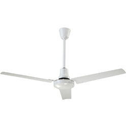 "Canarm Ltd. Model #CP48 HPWP White Heavy Duty Industrial and Agricultural Variable Speed Ceiling Fan (48"" Reversible, 21,000 CFM, 3 Yr Warranty, 120V)"