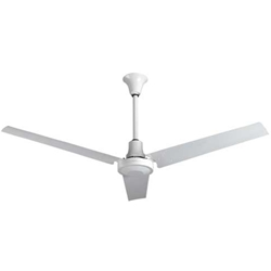 "VES Environmental brand #INDB604L White Heavy Duty Industrial Ceiling Fan High Output Variable Speed (60"" Reversible, 46,000 CFM, 5 Year Warranty, 120V)"
