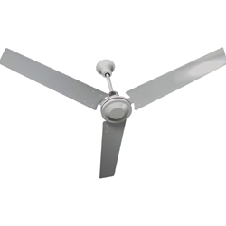 "TPI Corporation Model #IHR-56R White Industrial Variable Speed Ceiling Fan (56"" Reversible, 7,000 CFM, 3 Yr Warranty, 120V)"