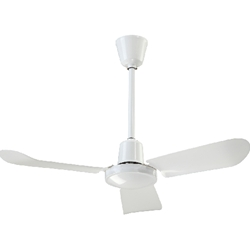 "Canarm Ltd. Model #CP36 White Commercial Variable Speed Ceiling Fan (36"" Reversible, 7,100 CFM, 5 Yr Warranty, 120V)"