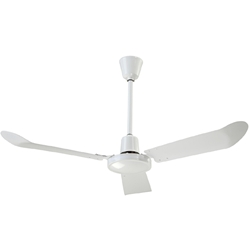 "Canarm Ltd. Model #CP48 White Commercial Variable Speed Ceiling Fan (48"" Reversible, 13,000 CFM, 5 Yr Warranty, 120V)"