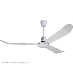"Northwest Envirofan Model #FP-56R White Light Commercial Variable Speed Ceiling Fan (56"" Downflow, 22,000 CFM, 1 Yr Warranty, 120V)"